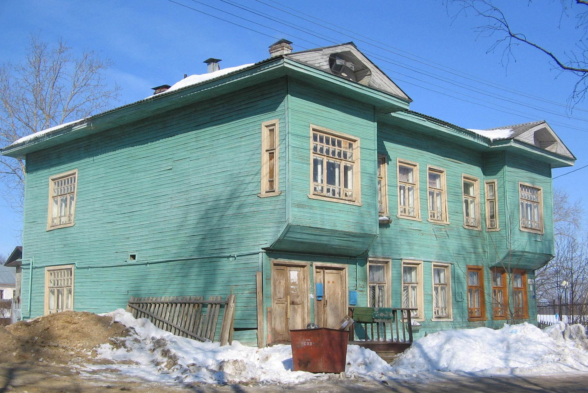 Дом Давыдова в ходе переезда утратил декор, но сохранил выразительность форм