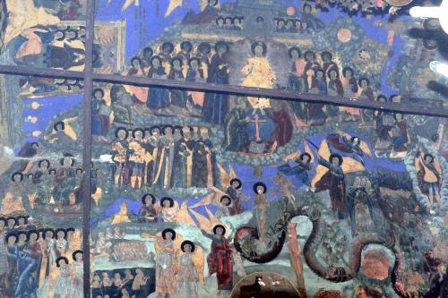 Роспись свода церкви Димитрия Прилуцкого на Наволоке - второго после Софийского собора каменного храма города. 1721 г., конец эпохи ярославской фрески