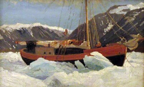А. А. Борисов. Судно во льдах (яхта «Мечта»), 1900 г.