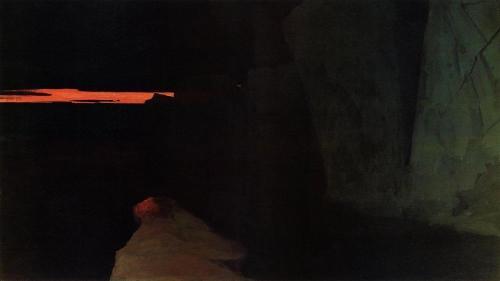 Страна смерти. Августовская ночь в Ледовитом океане. 1903. Музей Арктики и Антарктики, Санкт-Петербург