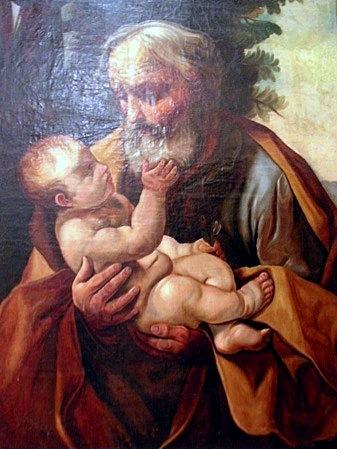 А. А. Борисов. Святой Иосиф с младенцем Иисусом (копия с картины Гвидо Рени, ок. 1635 года), 1885 г., Музей Красноборска