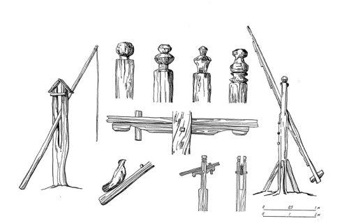 Типы колодезных столбов на Русском Севере