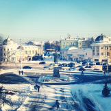 Вид с горки в сторону Каменного моста. Фото: Антон Мякишев
