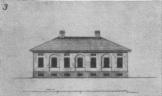 Образец одноэтажного дома на 7 окон из второго альбома (чертёж № 87)