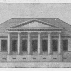 Карл Росси в 1811 г. спроектировал ряд проектов для Твери. Позже они были осуществлены в Рыбинске и Кашине...