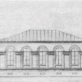 Образец одноэтажного дома на 5 окон